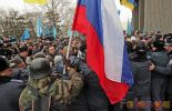 (VIDEO + PHOTO) Pro- anti-Russian protesters clash in Crimea