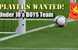 Players Wanted for Boys Under 18′s team in 2014
