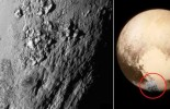 Welcome to Iceworld: Stunning first hi-definition image of Pluto reveals huge 11,000 foot mountains made of water ice and a geologically active surfac